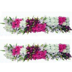 5 FT - Plastic Artificial Flower Panel - Flower Carry - Flower Decoration - Multi Color