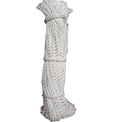 Rope - Chata Rope - Rassi - Dori - Polyester - Resham Rope - White color (Available in 3MM - 4MM - 5MM)