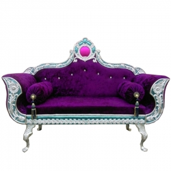 Dark Purpule Color - Heavy Premium Metal Jaipur Couches - Sofa - Wedding Sofa - Wedding Couches - Made Of High Quality Metal & Wooden