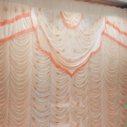 10 FT X 18 FT - Designer Curtain - Parda - Stage Parda - Wedding Curtain - Mandap Parda - Back Ground Curtain - Side Curtain - Made Of 24 Gauge Brite Lycra - Multi Color