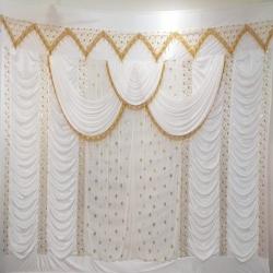 10 FT X 15 FT Parda - Curtain - Stage Parda - Wedding Curtain - Mandap Parda made of 26 gauge Brite Lycra.