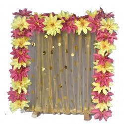 2 FT X 2 FT - Wooden Frame - Artifical Flower Frame -  Decorative Frame - Multi Color.