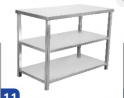 24 Inch X 45 Inch X 32 Inch - Stainless Steel Kitchen Working Heavy Steel Table for Food and Storage.