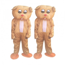 Mouse Adult Costume - Party Mascot - Made Of High Quality Plush Material - Set Of 2