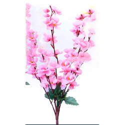 Height 21 Inch - Blossom Bunch X 7 Stick - AF - 357 - Leaf Bunch - Light Pink Color