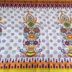 Kannath Print Cloth - Taiwan Side Wall Print - 72 Inch Panna - Diwal Print - Border Print - Multi Color
