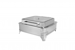 8 LTR - Full Glass Indian Hydraulic Chafing Dish - Garam Set - Made of Stainless Steel