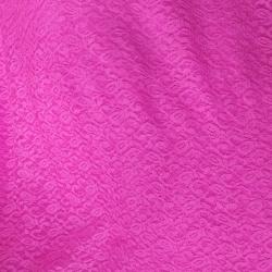 Russel Net - 5 Feet Panna - Floral Net - Event Cloth - Maharani Pink  Color