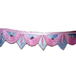 Jhalar - Mandap Jhalar For Wedding & Party - Made Of Heavy Brite Lycra Cloth (Size Available in 10FT, 15 FT X 30 FT )