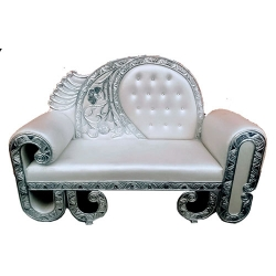 Grey Color - Heavy Premium  Jaipur Couches - Sofa - Wedding Sofa - Wedding Couches - Made Of High Quality  Wooden