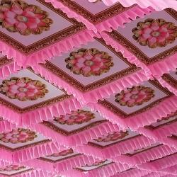 15 FT X 15 FT - Designer Mandap Ceiling Cloth -Shamiyana Ceiling - Taiwan Top - 26 Gauge Bright Lycra Cloth - Multi Color