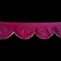 24 FT - Designer Zalar - Scallop Zalar - Kantha - Jhalar - Made Of Lycra With Tipki - Maharani Pink Color