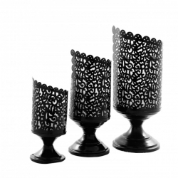 Decorative Lamp - Center Table Pot -  Made of Iron (Set of 3)