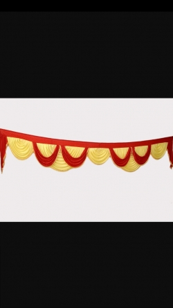 Red & Yellow Color - Jhalar - Mandap Jhalar For Wedding & Party - Made Of Heavy Brite Lycra Cloth