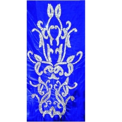 5 FT X 10 FT Decoration Background Curtain - Entrance Decoration - Made of Velvet Fabric - Blue Color