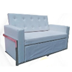 High Quality 3 Seater Sofa - Made Of Steel & Fome - White Color.
