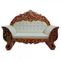White Color - Heavy Premium Metal Jaipur Couches - Sofa - Wedding Sofa - Wedding Couches - Made Of High Quality Metal & Wooden