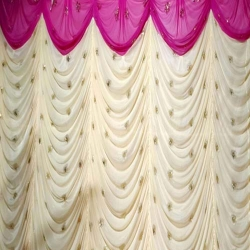 10 FT X 15 FT - Parda - Galaxy Curtain - Stage Parda - Wedding Curtain - Mandap Parda Made Of Brite Lycra