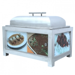 10 LTR - Chafing Dish - Hot Pot Dish - Garam Set - Buffet Set - Made Of Stainless Steel