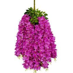 Height - 42 Inch - Hydrengea Wisteriya - Latkan - Flower Decoration - Artificial Latkan - Plastic Latkan - AF 1032 - 721 - Purpule Color - 1 Packet ( 12 Pieces )