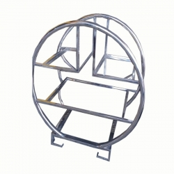 2.3 Ft - Salad Stand - Four Tier Ring Shape - Made of Stainless Steel