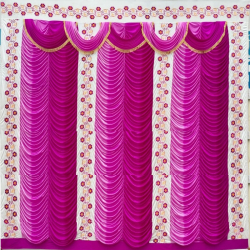 10 FT X 20 FT - Designer Curtain - Parda - Stage Parda - Wedding Curtain - Mandap Parda - Back Ground Curtain - Side Curtain - Made Of 24 Gauge Brite Lycra - Multi Color
