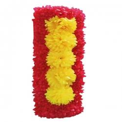 10 Inch X 20 Inch - Plastic Artificial Flower Panel - Pillar Pannel - Main Door Hanging For Wedding & Decoration - Multi Color