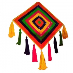 18 INCH - Jhumar - Wall Hanging - Kite Decorative Jhumar - Made of Wooden - Multi Color