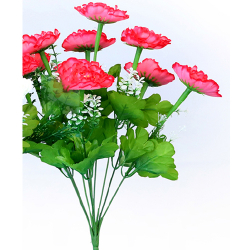 Height 16 Inch - Morifolium Bunch - AF - 561 - Leaf Bunch - Red Color