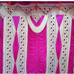 10 FT X 20 FT - Designer Curtain - Parda - Stage Parda - Wedding Curtain - Mandap Parda - Back Ground Curtain - Side Curtain - Made Of 24 Gauge Brite Lycra - Multi Color