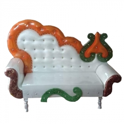 White Color - Regular - Couches - Sofa - Wedding Sofa - Maharaja Sofa - Wedding Couches - Made Of Wooden & Metal.