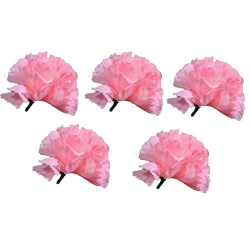 Loose Flower - Artificial Regular Quality Flower For Wedding Ceiling Flower - Pink Color (120 Piece Per Packet )
