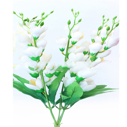 Height 24 Inch - Heavy Glad Bunch X 5 - AF- 312 - Leaf Bunch - White Color