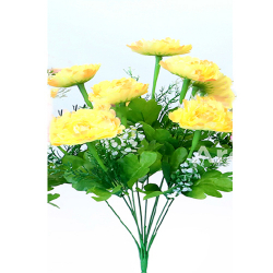 Height 16 Inch - Morifolium Bunch - AF - 561 - Leaf Bunch - Yellow Color