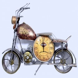 30 Inch - Fancy Bike Watch - Wall Frame - Wall Decor - Iron Handicraft - Fancy Royal Bullet - Multi Color