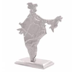17 Inch - Decorative India Map - Table Decorative - Made of Aluminium