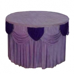 4 FT X 4 FT - Round Table Cover - Made of Premium Quality 26 Gauge Brite Lycra