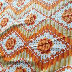 Knitting  Printed Cloth - 7.5 Meter Quality - Mandap Print - Multi Color
