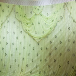 10 FT X 15 FT - Designer Curtain - Parda - Stage Parda  - Wedding Curtain - Mandap Parda - Back Ground Curtain - Side Curtain -  Made of 24 Gauge Brite Lycra - Light Green Color