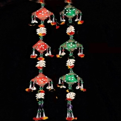 20 INCH - Jhumar - Rajasthani Hanger - Door Hanging - Multi Color