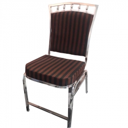Stainless Steel - Chairs - Banquet Chairs - Decorative Chairs - Brown & Black Color