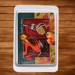 16 Inch - Serving Platter - Large Tray - Made of Premium Plastic- Rectangular Shape Serving Platter Square Decorative Tray