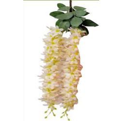 Height - 24 Inch - Chameli Hanging - Latkan - Flower Decoration - Artificial - AF 518 - Peach Color