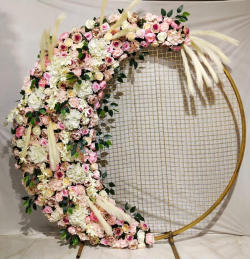 6 FT - Selfie Round Stand - Artificial Flower Stand - Flower Decoration - Multi Color