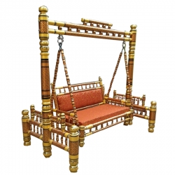 Sankheda Jhula - Wooden Swing - Made Of Premium Quality Wood - Brown Color