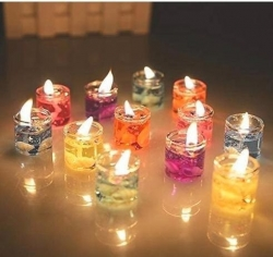 1 Inch - Gattu Candel - Tea Light Smokeless Candle - Diwali Candel - Table Candel - Multi Color Color (12 Pices Biox )