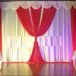 10 FT X 15 FT - Parda - Curtain - Stage Parda - Wedding Curtain - Mandap Parda Made Brite Lycra.