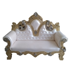 White Color - Heavy - Premium - Couches - Sofa - Wedding Sofa -Maharaja Sofa - Wedding Couches - Made Of Wooden & Metal