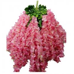 2 FT - Plastic Artificial Flower - Latkan - Flower Decoration - Pink Yarrow Color