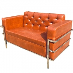 VIP Sofa - Made Of Steel & Fome - Dark Sunset Color